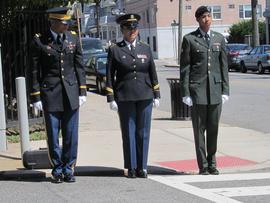 Lt. Sergio Suarez, Sgt. Norma Mojica, Spc. Jesse Espaillat
