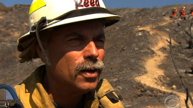 Los Angeles fire captain Ron Reed and other Southern California firefighters have been working long days all summer to battle dozens of blazes, with no end in sight.