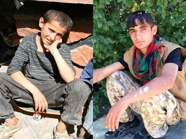 Mohammed Eeza, 13, and Nawab, 17