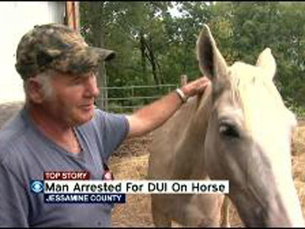 Kentucky man on horse arrested for DUI - CBS News