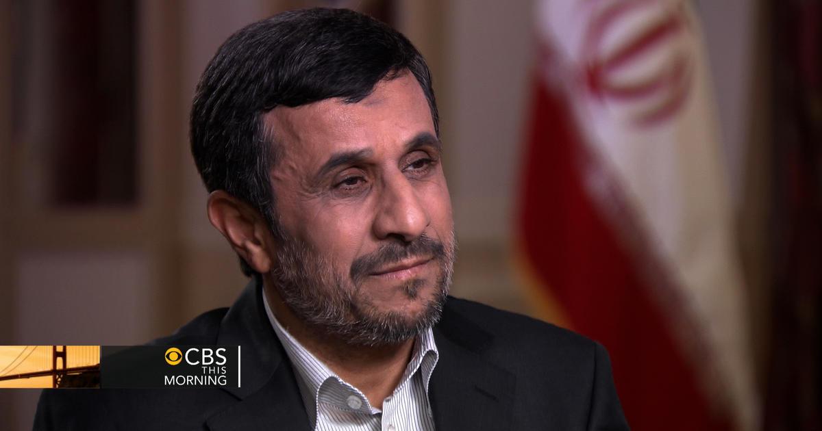 ahmadinejad on israel we have never threatened them cbs news