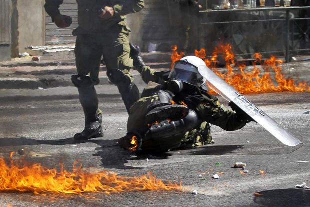 Violent protests in Greece