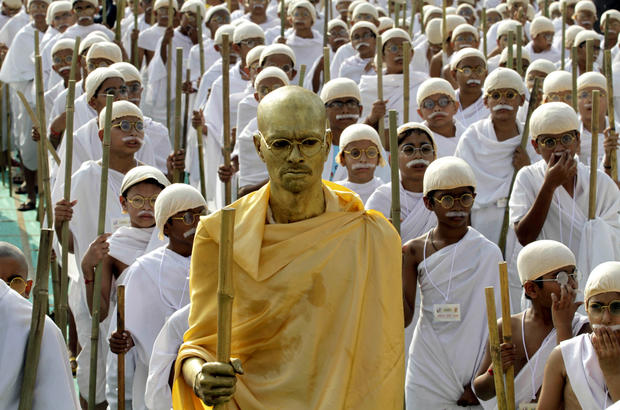 India celebrates Gandhi's birthday