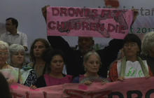 Americans protest drone strikes in Pakistan