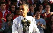 Obama attacks Romney in Ohio