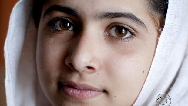 Malala Yousufzai, 14, was shot by the Taliban on a school bus for advocating for girls' education.