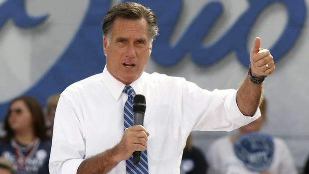 Republican presidential candidate, former Massachusetts Gov. Mitt Romney speaks in Portsmouth, Ohio, in this Oct. 13, 2012 file photo.