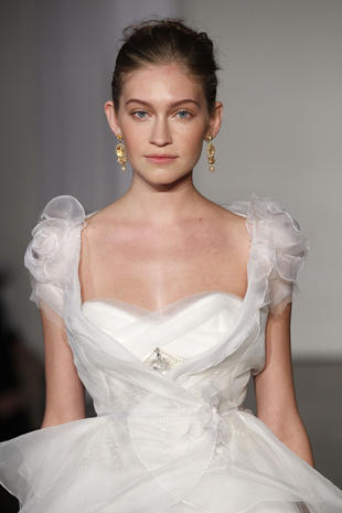Bridal gowns on the catwalk