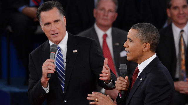Second presidential debate: Comparing Romney and President Bush