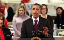 Obama urges Americans to donate to Superstorm Sandy victims