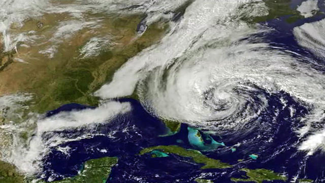 Life and death of Sandy from a NASA satellite