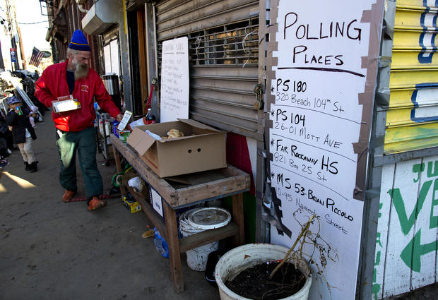 Voting in Sandy-affected communities