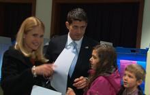Paul Ryan casts his ballot
