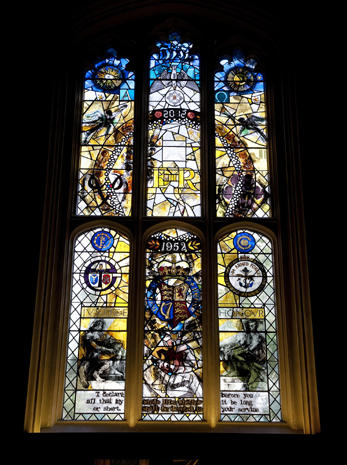 Jubilee window for the queen