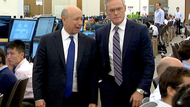 Goldman Sachs CEO Lloyd Blankfein and CBS News' Scott Pelley tour one of the bank giant's trading rooms.