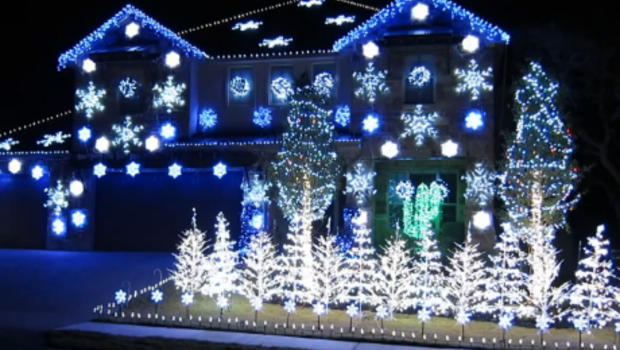 holiday light show set to gangnam style music cbs news
