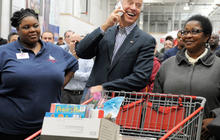 Joe Biden shops at Costco