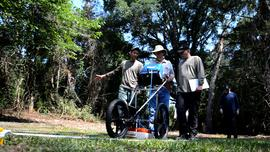 Researchers use ground-penetrating radar to detect potential burial sites at the Dozier School for Boys.