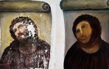 Woman who botched Spanish fresco sells original art