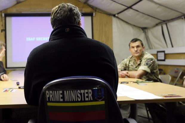David Cameron visits troops in Afghanistan