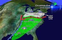Holiday travel weather forecast