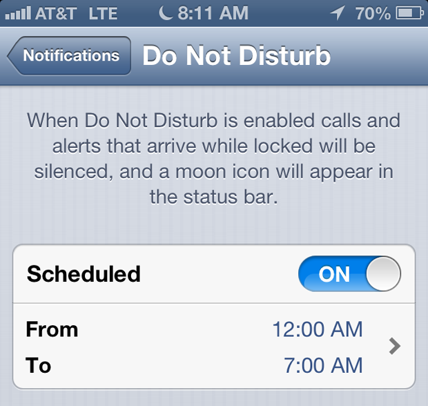 Apples Do Not Disturb Function Reportedly Wont Turn Off In The New