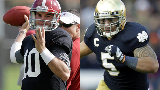 Manti Teo and AJ McCarron
