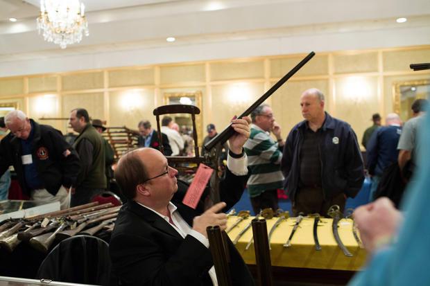Gun show held in Stamford, Conn.