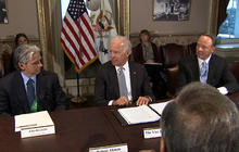 Biden wraps up gun violence meeting with video game makers