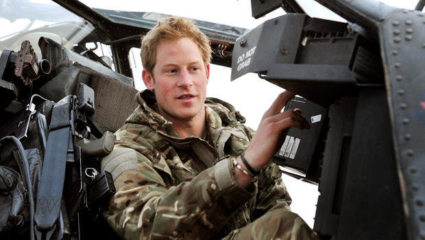 Prince Harry in Helmand, Afghanistan, during his second tour with the army. The British royal returned home on Monday.