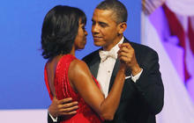 Michelle Obama, President Obama dance at inaugural ball