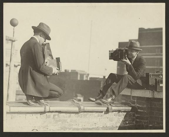 Vintage pics: A look behind the camera