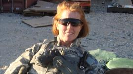 Christine Stark while she was on deployment in Afghanistan.