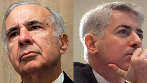 Bill Ackman, left, and Carl Icahn