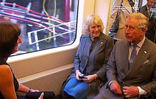 Royals ride the subway - for one stop