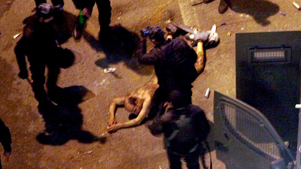 Egyptian Now Blames Police For Beating, Dragging Him Naked -2123