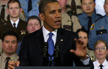 """Assault weapons ban """"deserves a vote in Congress,"""" Obama says"""