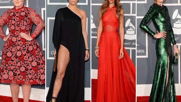 Grammys: Grammy Awards 2013: Red Carpet Features Plenty Of Skin