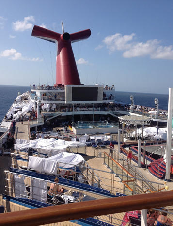Aboard the Carnival Triumph cruise ship