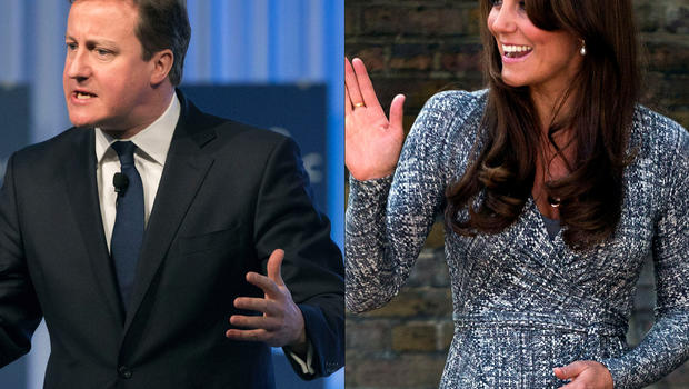 David Cameron and Kate, Duchess of Cambridge