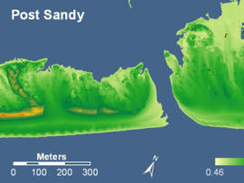 A map of Fire Island, after superstorm Sandy