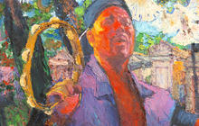 Capturing Aaron Neville on canvas