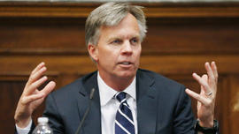 J.C. Penney CEO Ron Johnson testifies on Mar. 1, 2013, at State Supreme Court in New York.
