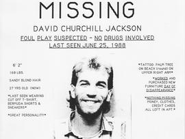 David Jackson's missing persons poster