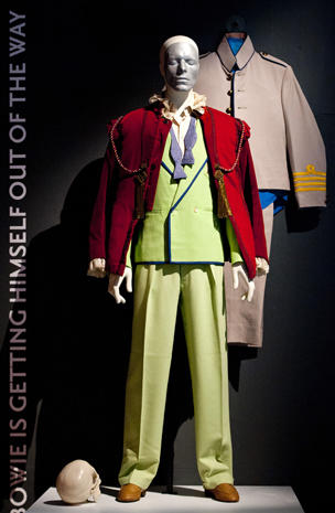 David Bowie on display in London