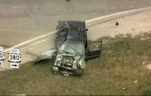 Police chase ends in fiery crash