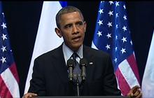 Obama to Israelis: Put yourselves in Palestinians' shoes
