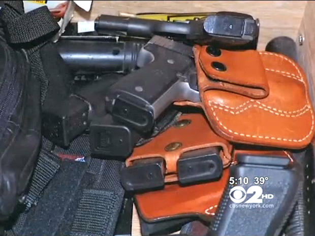 Gun arsenal seized on Long Island