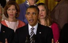 """Obama: Gun control foes """"interested in running out the clock"""""""