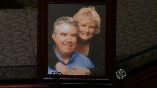 Kaufman County DA Mike McLelland and his wife Cynthia, pictured at their funeral.